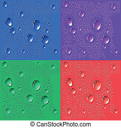Abstract background with bubbles in the layer of water.