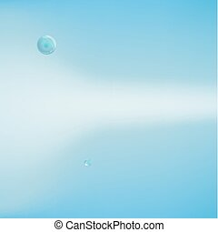 Abstract background with bubbles of the water.