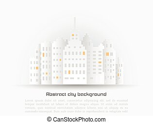 Abstract background with building 3D Paper