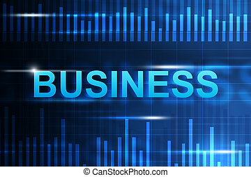 Abstract background with business word