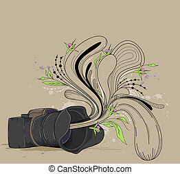 Abstract  background with camera