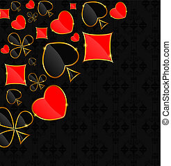 Abstract background with card suits for design. Vector illustration.