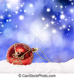 abstract background with christmas ball