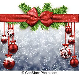 Abstract background with christmas balls.
