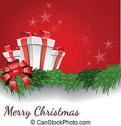 Abstract background with Christmas box