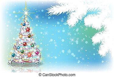 Abstract background with Christmas decorations - Abstract...