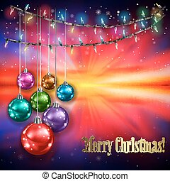 Abstract background with Christmas lights