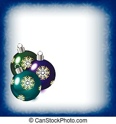 Abstract background with Christmas tree balls, vector illustration