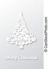 Abstract background with Christmas tree.