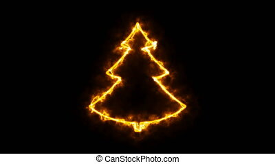 Abstract background with christmas tree sign