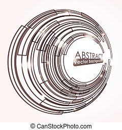 Abstract background with circle