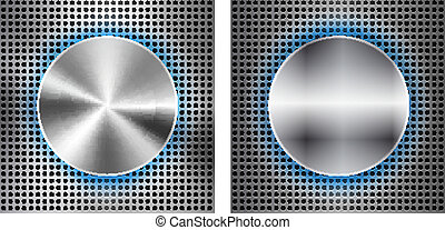 Abstract background with circle metallic inset