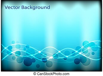 abstract background with circles an