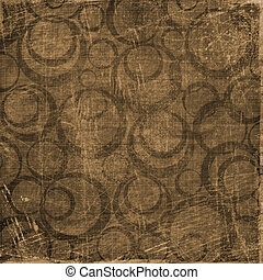 Abstract background with circles. Grunge paper