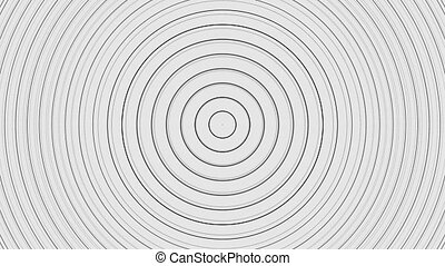 Abstract background with circles moving in waves. Drawing style. Seamless loopable 4k 60fps