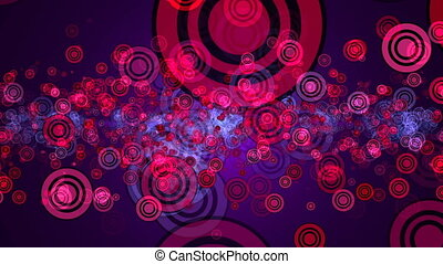 Abstract background with circles stroke