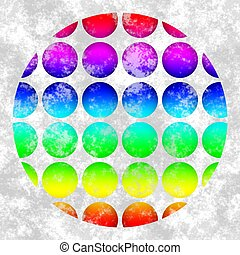 Abstract background with circular dotted motif