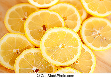 Abstract background with citrus-fruit of lemon slices