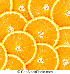 Abstract background with citrus-fruit of orange slices. Close-up. Studio photography.