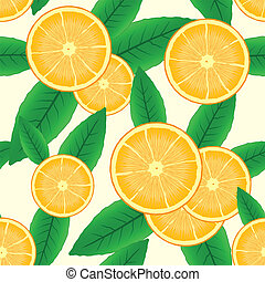 Abstract background with citrus-fruit