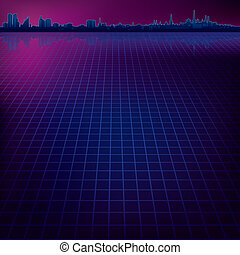 abstract background with city