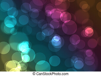 Abstract background with city colorful night lights