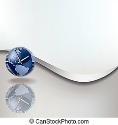 Abstract background with clock