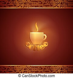 abstract background with coffee cup