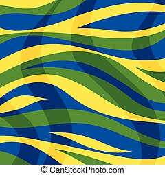 Abstract background with color stripes and waves