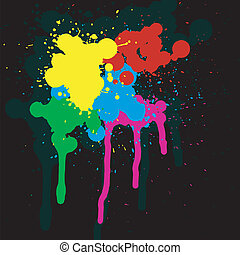 Abstract background with colored spots