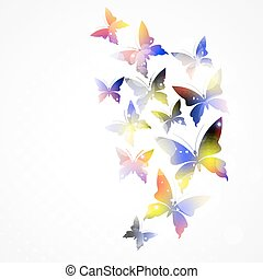 Abstract background with colorful butterfly.