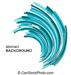 Abstract background with colorful curved lines in a chaotic order.