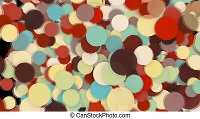 Abstract background with colorful circles