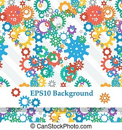 Abstract Background with Colorful Gears