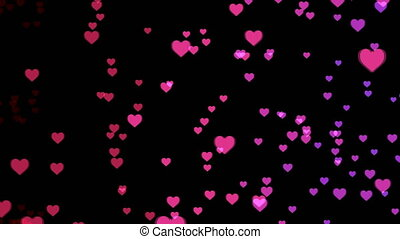 Abstract background with colorful hearts
