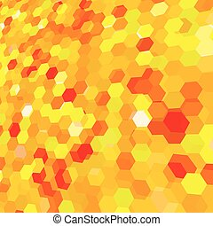 Abstract background with yellow messy hex polygons