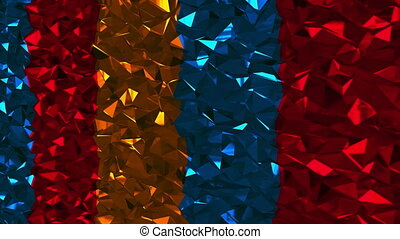 Abstract background with colorful lowpoly triangles