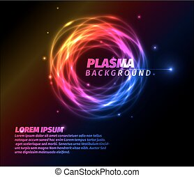 Abstract background with colorful plasma ring