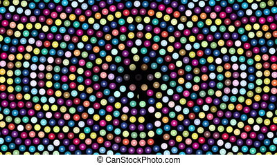 Abstract background with colorful rotating dots
