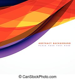 abstract background with colorful shapes vector design