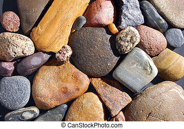 abstract background with colorful stones