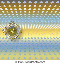 abstract background with compass