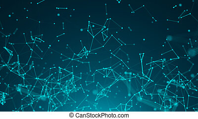 Abstract background with connected dots. Technology concept
