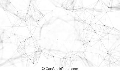Abstract background with connecting dots and lines....