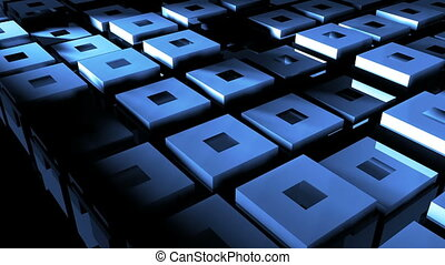 Abstract background with cubes. 3D rendered