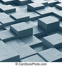 Abstract background with cubes