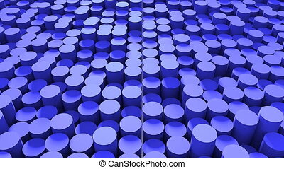 Abstract background with cylinders. Seamless loop