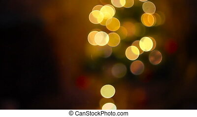 Abstract background with defocused christmas tree lights