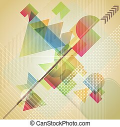 Abstract  background with different geometric shapes.