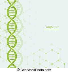 Abstract background with DNA molecule structure - Abstract...